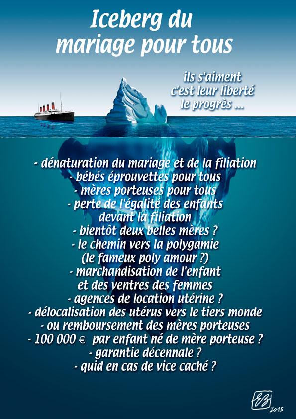 l'iceberg du mariage pour tous