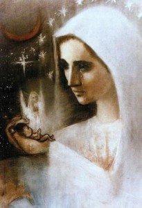 La Vierge Marie pleurant tous ces enfants avortés